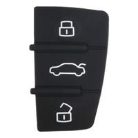 Wholesale Audi Key Remote Button - Repair 1 pcs Remote Key FOB 3 Button Rubber Pad Replacement Fits for Audi A3 A4 A6