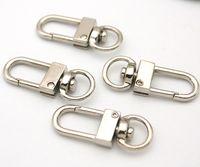 Wholesale Led Light Belt Car - 50pcs lot Small Silver Alloy Swivel Clasps Snap Key Hooks DIY Key Chain Ring UseBags,Belts,Garment,Shoes Wholesale