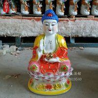 Wholesale Buddha House - High-grade ceramic Buddha Shakya Muni Buddha worship Amitabha Buddha decoration light house