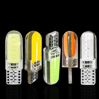 Wholesale 194 Cob - NEW T10 194 2825 WY5W W5W COB LED Silica gel Waterproof Wedge Light Car marker light reading dome Lamp Auto parking bulbs 12V