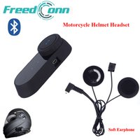 Wholesale Hands Free Bluetooth Motorcycle - FreedConn Motorcycle Bluetooth Helmet Stereo Headphone Waterproof BT Wireless Bluetooth Headsets Motorcycle Helmets Hand Free Headphone