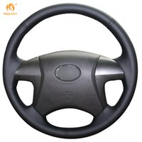Wholesale Car Cover Camry - Mewant Black Genuine Leather Car Steering Wheel Cover for Toyota Highlander Camry 2007-2011