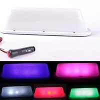 Wholesale Taxi Roof Signs - purple LED 12V Car Taxi Cab Roof Top Sign Light Lamp Magnetic white