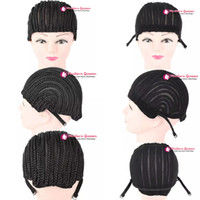 Wholesale Cheap Braided Wigs - Cheap Fashion Cornrow Wig Caps For Making Wigs With Combs Braided Cap For Weave Crotchet Braiding Wig Adjustable Cap Crotchet Braids