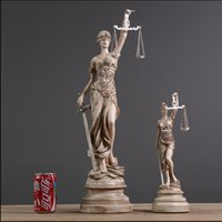 Wholesale Craft Resin Statue - Ancient Greek Goddess Of Justice Themis Statue Resin Crafts Retro Home Decoration