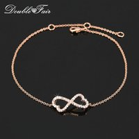 Wholesale Diamond Bow Bracelets - CZ Diamond Party Bracelets & Bangles Micro Pave 18K Rose Gold Plated Bow Tie Crystal Fashion Brand Wedding Party Jewelry For Women DFH104