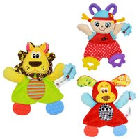 Wholesale Tooth Doll - Animals to placate towel The teeth ring paper calm doll Plush toys