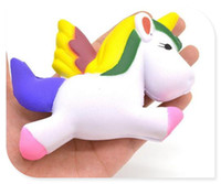 Venda Por Atacado New 13cm Kawaii Squishy Unicorn Slow Rising Squeeze Toy Collectibles Cute Phone Straps Pendant Pão Creme Bolo Scented Kids Gift
