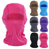 Wholesale Wholesale Bike Helmets - Windproof Mask Balaclava Hat Hooded Neck Winter Sports Breathable Face Mask Halloween Men Bike Motorcycle Helmet Beanies Masked cap