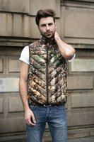 Wholesale Collared Military Vest - Fall-Fashion men outdoor 3d camouflage white duck down vest gilet homme mens outdoor military army waistcoat outerwear chaleco hombre