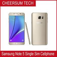 Wholesale Notes Accessories - Free DHL Refurbished Original Samsung Galaxy Note 5 N920P N920T N920V N920A Unlocked Phone Octa Core 4GB 32GB 5.7 Inch 2560 x 1440