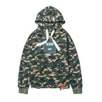 Wholesale China Fashion Coat - 2017 High version China Tide men's camouflage Hoodie sweater coat collar lace Tide Brand fashion Hoodie