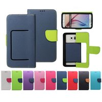 Wholesale Mobile Flip Cover Case - Case Universal Phone Wallet PU Flip Leather Case Credit card back Cover For 3.5 to 5.7inch Cell Phone Mobile Phone