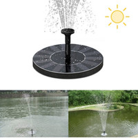 Wholesale Wholesale Submersible Pond Pumps - Solar Water Pump Power Panel Kit Fountain Pool Garden Pond Floating Pump Set Submersible Plants Watering Display