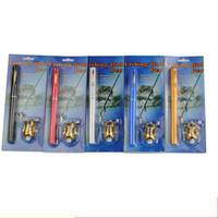 mini canetas de pesca caneta venda por atacado-Tamanho do bolso Vara De Pesca Super Curto Conjunta Telescópica Mini Hastes Super Leve Caneta Portátil Terno Peixe Engrenagem de Carbono de Alta Flexibilidade 26zy J1