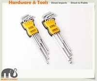 Wholesale Allen Key Wrench - Expert Quality 18pc Tamperproof Torx & Hex Allen Key Wrench Set Extra Long Arms
