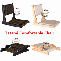 Wholesale Tatami Wood - Home Smart Wooden Living Room Furniture Tatami Folding Chair Retro Oracle Floor Japanese Tatami Comfortable Chairs with Back Support