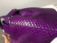 python çanta toptan satış-Avrupa klasik tarzı lüks Paris zoshow yeni kadın çanta omuz çantası deri deri yüzey python python deri yapımı dekorasyon