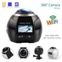 Wholesale new camera 3d online - MOQ V1 HD K Camera Ultra Mini Panoramic Camera WIFI MP D Waterproof Sports Driving VR Action Camera Action Video cam