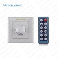 ir schalter 24v großhandel-HITOLIGHT DC12-24V LED-Wand-Dimmschalter mit 12 Tasten IR-Fernbedienung Einstellbar für 5050,2835 LED-Einfarbenregler