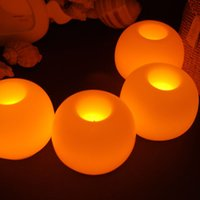 Wholesale 1PC Creative Round Ball LED Candle Lamp Yellow High Quality Mini Electronic Candle Light for Wedding Party Decoration Tea Light