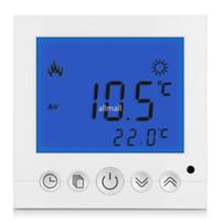régulateur de température bleu achat en gros de-Freeshipping Thermostat de sol pour salle numérique Affichage à cristaux liquides Contrôleur de température hebdomadaire programmable