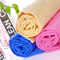 Wholesale Deerskin Towel - Super Soft Absorbent Pet Bath Towel Imitation Deerskin Dog Cleaning Towel With Pail Pack Cat Dog Grooming Products Pet Pet Supplies