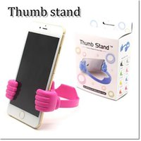 Wholesale Ipad Holders - new design thumb stand holder universal cellphone holder for iphone samsung ipad mipad colorful for choose