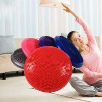 Wholesale balance mat - Yoga Balance Pad Inflation Massage Cushion Non Slip Environmental Protection Massage Pads High Quality PVC Durable Soft Mats 20kt J