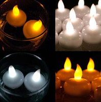 Wholesale Led Flameless Floating Candles - Colorful Waterproof Light Water Floating Flameless LED Tealight Candles Wishing Lantern Romantic Wedding Party Decoration CCA7297 240pcs