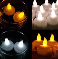 Wholesale Led Floating Lanterns - Colorful Waterproof Light Water Floating Flameless LED Tealight Candles Wishing Lantern Romantic Wedding Party Decoration CCA7297 240pcs