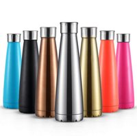 Wholesale High Quality Thermos - 2017 New 450ml Coke Cup Simple Modern Vacuum Insulated Bottle Double Stainless Steel Thermos Cola Style High Quality c128