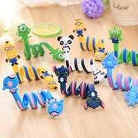Wholesale Mp3 Earphone Cable - Cute Cartoon Earphone Wire Cord USB Cable Winder Organizer Holder for iPhone 5 6 7 Cable Tablet MP3 MP4 PC Electric Cable