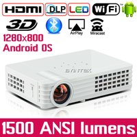 Wholesale Iphone Projectors - Wholesale-BYINTEK MD305 HD Wifi Bluetooth Airplay Android 4K Miracast Home Theater Portable HDMI USB LCD Mini 3D LED Projector For Iphone
