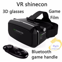 Wholesale Google Cardboard VR shinecon Pro Version VR Virtual Reality D Glasses and Smart Bluetooth Wireless Remote Control Gamepad