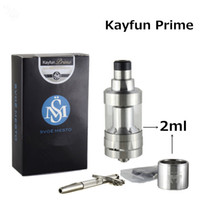 Wholesale Electronic Vaporizer V6 - Kayfun Prime KF V6 2ML RTA Atomizer Tank Electronic cigarette 316 Stainless Steel MTL Vaporizer 22mm Drip tip for 510 RDTA