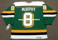 ingrosso personalizzato Throwback Mens LARRY MURPHY Minnesota North Stars 1989 CCM Vintage Away Cheap Retro Hockey Jersey
