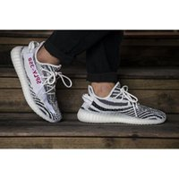 Wholesale Women Collection - BZ0256 SPLY-350 Black White 350v2 Boost Kanye West Men Women Running Outdoor Sneakers Fashion Shoes True Boost With Heels Limited Collection