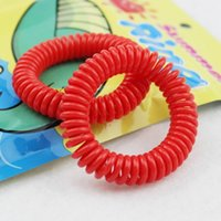 Wholesale Child Baby Telephone - Mosquito Repellent Bracelet Stretchable Elastic Coil Spiral Hand Wrist Band Telephone Ring Chain Anti Mosquito Bracelet Baby Children