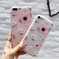 Wholesale I Phone Silicon - Pattern One Piece Relief I phone 7 6s 6s plus Soft TPU Back Protective Silicon case Anti-knock for apple phone