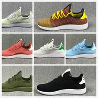 Wholesale Dot Shoes Woman - New arrive Pharrell Williams x Stan Smith Tennis HU Primeknit men women Running Shoes Sneaker breathable Boost Runner sports Shoes EUR 36-45