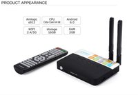 Wholesale Smart Tv Game - Amlogic S912 Octa Core Smart TV Box Android 7.1 2GB 16GB Bluetooth 2.4G 5G Wifi KD 17.0 4K H.265 Media Player Airplay PS4 Xbox Game CSA93
