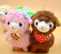 1Pcs 12cm Japonês encantador Amuse Plush Heart Love Alpacasso Arpakasso Alpaca Pendant Sheep Soft Doll Toys