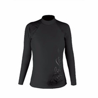 Wholesale Stylish Long Shirts For Women - Long Sleeves Swimwear Surf Clothing Diving Suits Swim Suit Surf Shirt For Woman Sexy Stylish And Beautiful