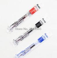 plumas de tinta retráctil al por mayor-Nuevo diseño 10Pcs / Box Pentel Lrn 5 Recarga de tinta de gel líquido para plumas retráctiles Energel Deluxe Rtx -Secado rápido -Punta de aguja -0.5Mm