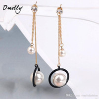 Ювелирные изделия Модные серьги Tassel Charms Gold Filled Fashion Imitation Pearl Dangle Chandiler Earrings Jewelry Wholesale in Bulk Omelly