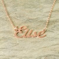 Wholesale Custom Fonts - Custom Alloy necklace name necklace new font style Choose any name, personalized jewelry