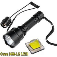 Wholesale C8 U2 - Hunting Flashlight Cree XM-L2 U2 LED lanterna Torch 1 mode C8 Flashlight Torch with Remote Pressure Switch lanterna