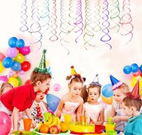 Wholesale baby shower party birthday resale online - Hot pc pack Ceiling Hanging Swirl Decoration Metallic For Wedding Christmas Halloween Birthday Party Decoration Baby Shower Boy