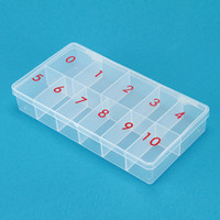 Wholesale 2 STORAGE PLASTIC EMPTY BOX with Number CASE FOR NAIL ART SALON TOOL FALSE TIPS